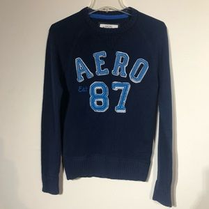 aeropostale sweater small navy blue